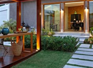 Um escritório no jardim